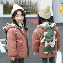 Baby Girls And Boys Winter Outerwear Coat Cartoon Children Down Parkas Hooded Children Thicken Jackets Baby Kids Winter Clothes cheap childhood lovely 0 8kG Fashion Polyester Fiber COTTON REGULAR Fits true to size take your normal size Outerwear Coats