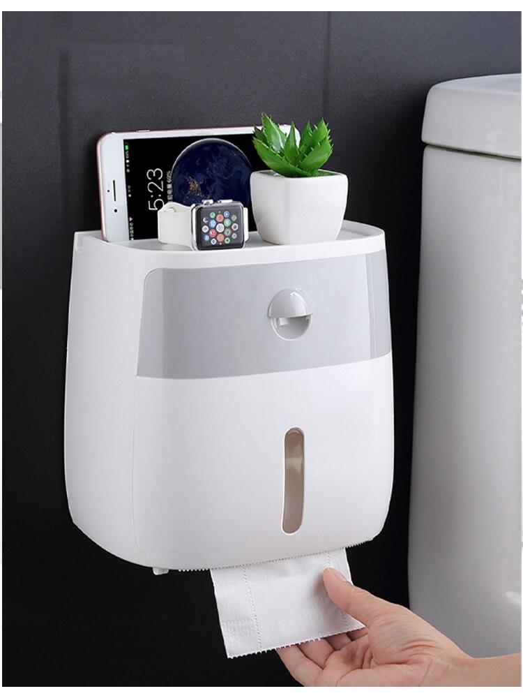 Настенный ткань коробка водонепроницаемый туалет бумага держатель диспенсер для сложения бумага полотенца салфетки ящик для хранения с ящиком ящик