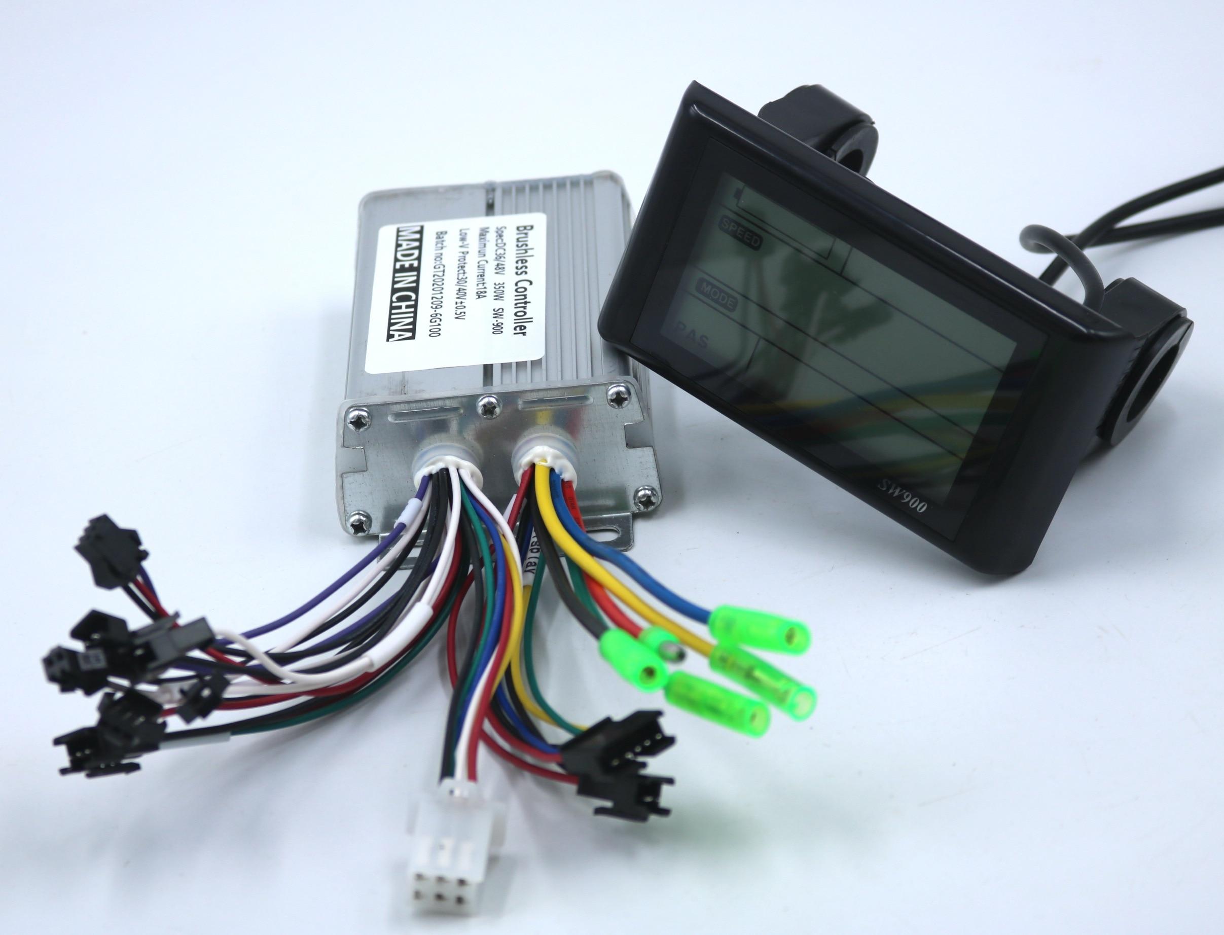 Greentime 36v 48v 350w 18a brushless dc controlador de motor ebike + SW-900Display um conjunto