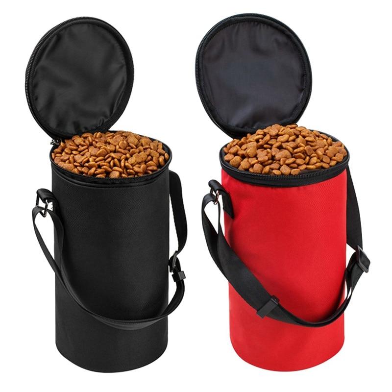 Pet Travel Food Storage Bowl Bags Dog Cat Waterproof Cloth Folding Feeding Bowl Portable Outdoor Travel Food Dish Bags