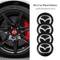 Металлические автомобильные наклейки на колеса, 4 шт., эмблема на ступицу автомобиля, значок на эмблему для Mazda 6, 3, CX5, 5, 2, 323, CX7, MX30, MX5, CX30, CX3, CX9, ...
