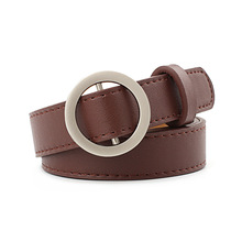 Belt Jeans Waistband Buckle High-Quality Fashion Women's Student Alloy Wild PU P91 Non-Porous