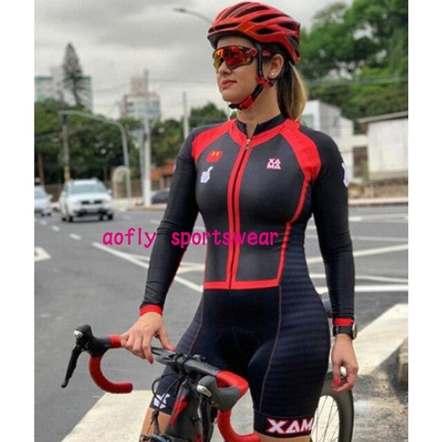 Longo triathlon manga curta camisa de ciclismo conjuntos skinsuit maillot ropa ciclismo bicicleta jérsei roupas ir macacão 5