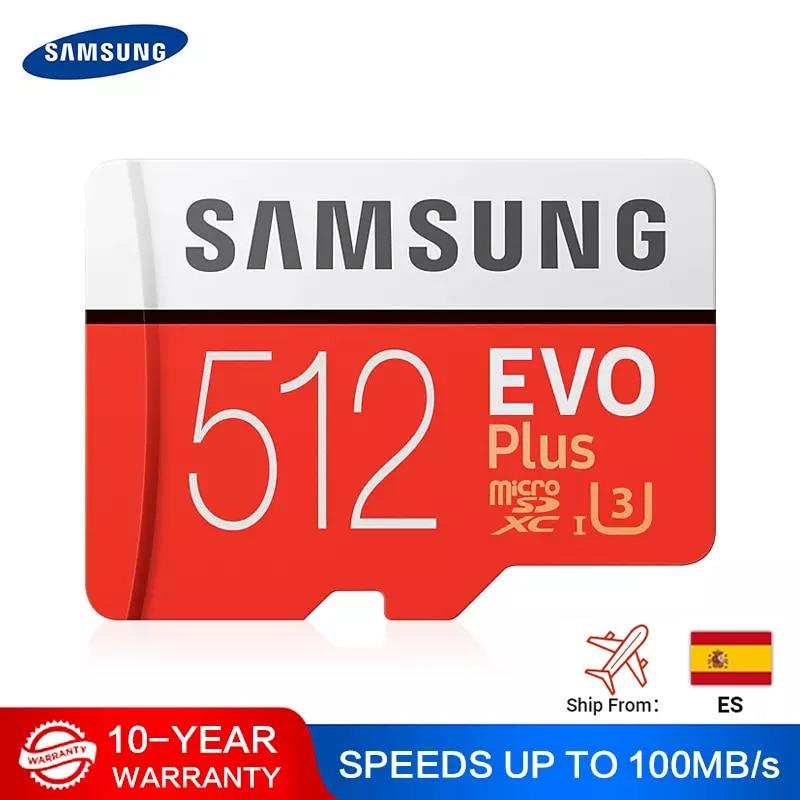 Карта памяти SAMSUNG EVO для телефона, U1/U3 Micro SD, 32 Гб/64 Гб/128 Гб/256 Гб/512 Гб, флеш-накопитель SD/TF