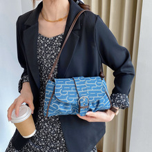Women's Bag Shoulder-Bag Korean-Version Across Fashion Denim Slant Armpit Inssen-Series