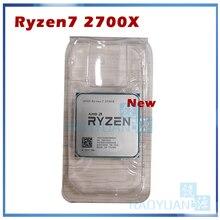 חדש AMD Ryzen 7 2700X R7 2700X 3.7 GHz שמונה ליבות Sinteen חוט 16M 105W מעבד מעבד YD270XBGM88AF שקע AM4
