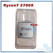 Yeni AMD Ryzen 7 2700X R7 2700X 3.7 GHz sekiz çekirdekli Sinteen dişli 16M 105W CPU işlemci YD270XBGM88AF soket AM4