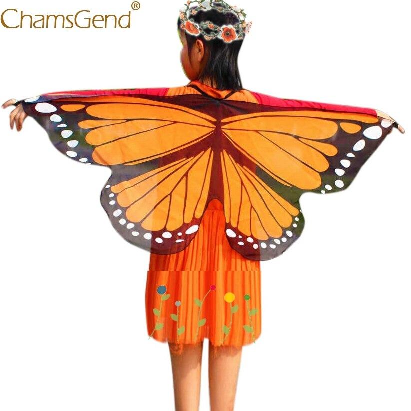 Chamsgend недавно Дизайн крылья бабочки пашмины шаль дети Обувь для мальчиков Обувь для девочек косплей хэллоуин костюм аксессуар кигуруми ани...
