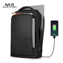 مارك رايدن حقيبة السفر سعة كبيرة المراهقين الذكور Mochila مكافحة سرقة حقيبة USB شحن 15.6 بوصة محمول على ظهره مقاوم للماء