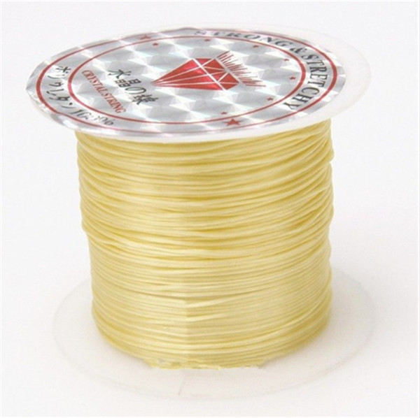 393 дюйма/рулон, крепкий эластичный шнур для бисероплетения с кристаллами, 1 мм, для браслетов, стрейчевая нить, ожерелье, сделай сам, для изготовления ювелирных изделий, шнуры, линия - Цвет: Color 2