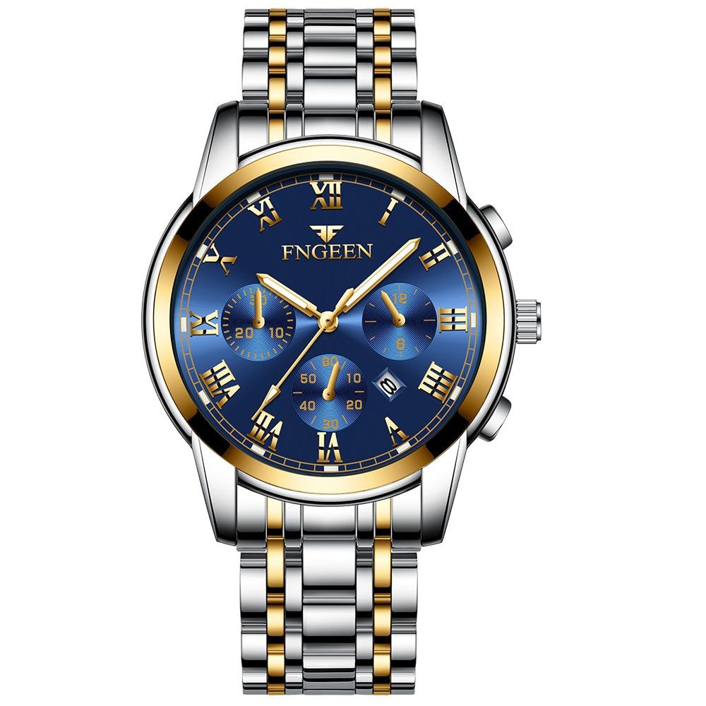 Successful man clock non mechanical men watch trend Korean quartz men's watch waterproof boy student mens watches Montre Homme|Quartz Watches| |  - title=