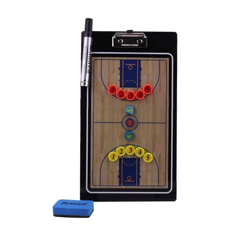Basketball Coach Tactics Research Clipboard Magnetic Folder Coaching PVC Board