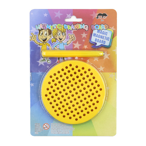 Diameter 10cm Magnetic Steel Ball Magnetic Drawing Board Educational Toy ABS Magnet Toy Plastic Circular Plate Creativity