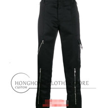 [custom size] fashionable men's casual trousers of spring and autumn, young men's individual straight tube overalls  M-6XL!