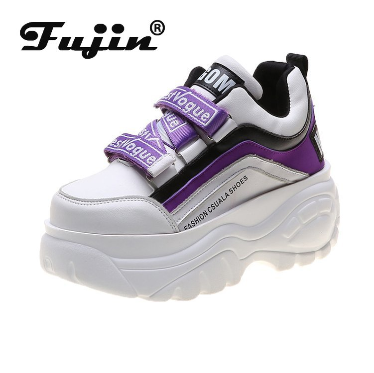Fujin Sneaker Women Buckle Woman Muffin Breathable Women Causal Shoes Platform Spring Autumn Fashion Thick Bottom Sneakers