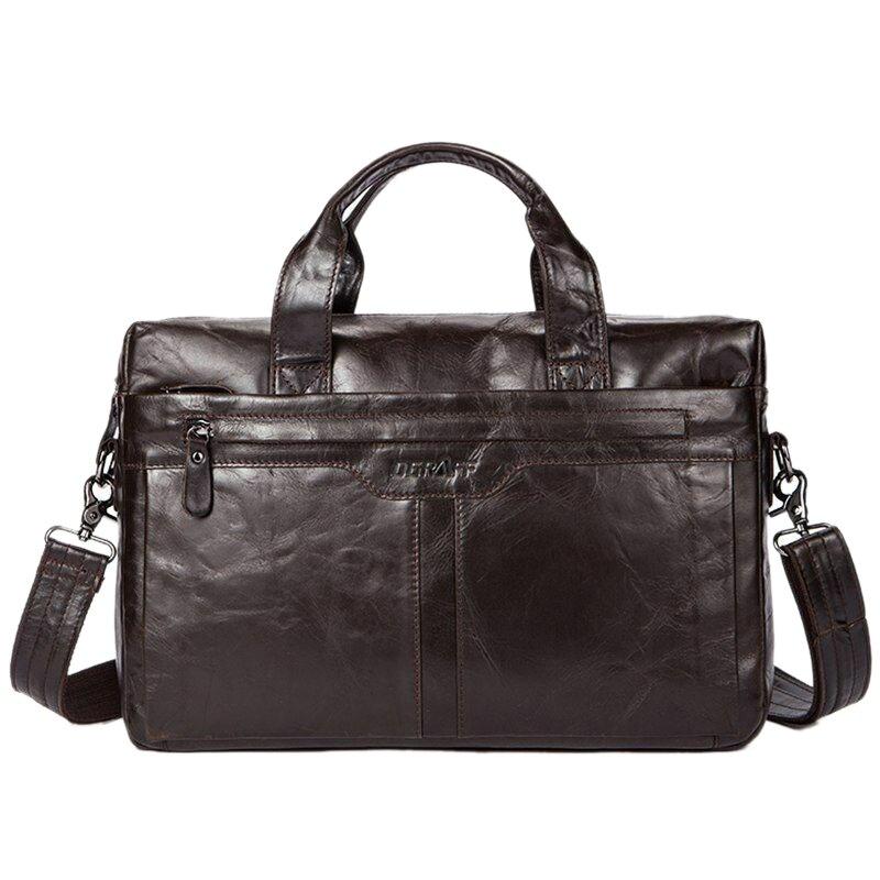 OGRAFF Genuine Leather Men Bag Handbags Briefcases Shoulder Bags Laptop Tote Bag Men Crossbody Messenger Bags Handbags