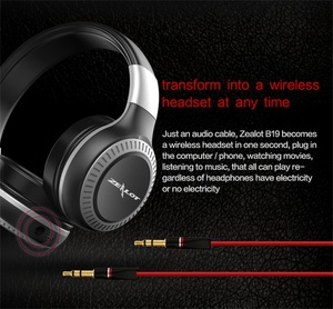 Image 5 - ZEALOT B19 Bluetooth Earphone Headphones with Mic Support TF Card FM Radio Portable Stereo Wireless Headset for Computer Phones