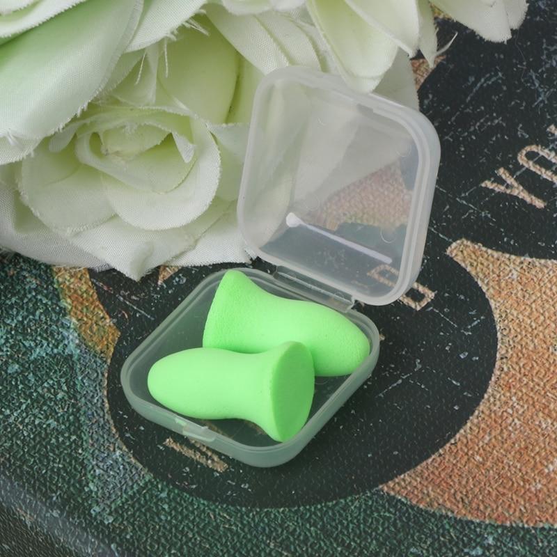 1 Pair Soft Foam Ear Plugs Tapered Travel Sleep Noise Prevention Earplugs Bsn