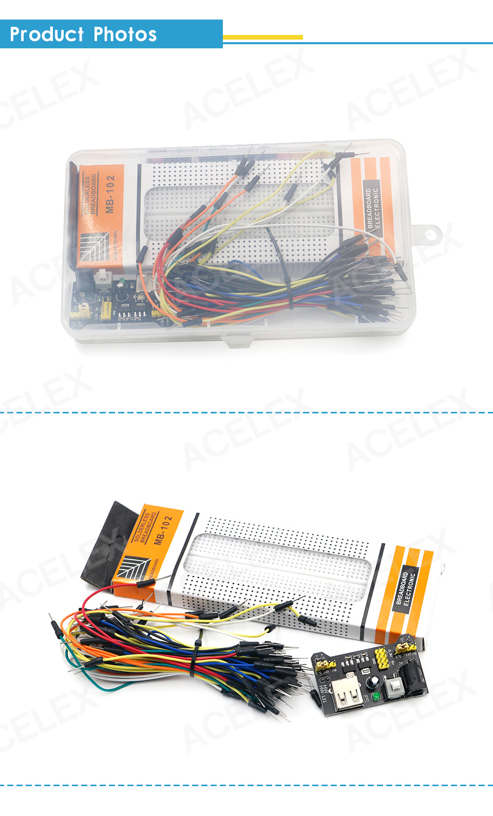 3.3V 5V MB102 Breadboard power module +