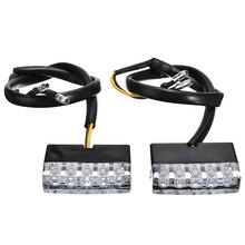 For Honda 1Pair 12V Universal Motorcycle Bike Front/Rear Turn Signal Indicator Amber LED Blinker Light Mayitr
