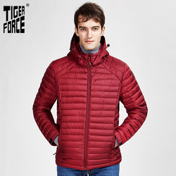 Tiger Force 2020 nueva chaqueta Casual de primavera otoño para hombre ropa de alta moda con capucha oculta para hombre prendas de vestir exteriores con cremalleras Parkas 50628
