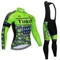Tinkoff 2019, комплект из Джерси с длинным рукавом для велоспорта, Летний Дышащий комбинезон, ropa ciclismo, одежда для велоспорта, MTB велосипеда, мужска...