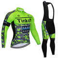 Tinkoff 2019 Camiseta de manga larga de ciclismo conjunto de verano Pantalones de babero transpirable ropa de ciclismo ropa de bicicleta MTB ropa de hombres de bicicleta