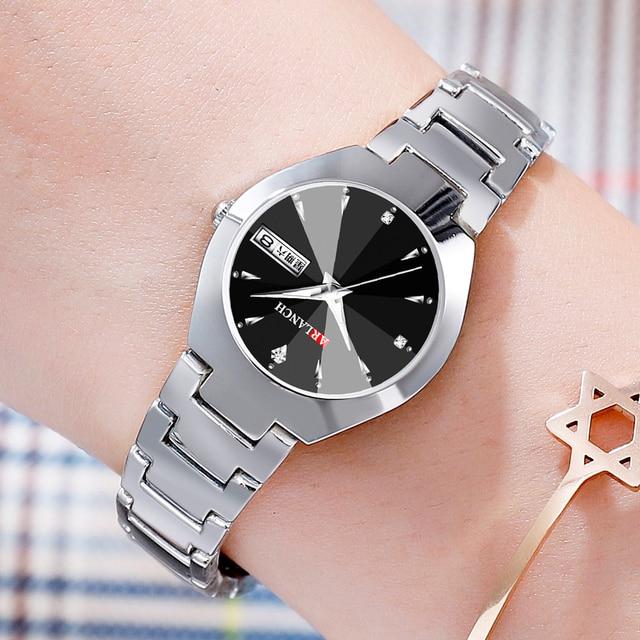 Lovers Watches Men Wrist Watch Mens Watches Top Brand Luxury Women Watch Diamond Clock Automatic Date Saat Relogio Masculino