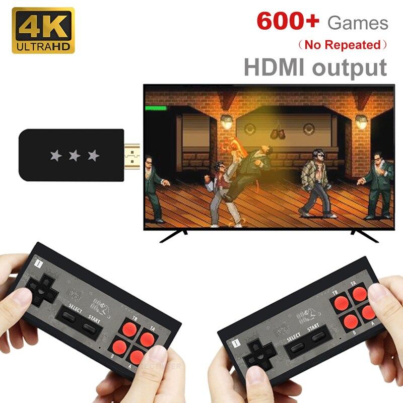 Игровая консоль USB Беспроводной ручной ТВ мини консоли встроенный 620 классические чайные кружки из 8 бит игр двойной геймпад, совместимому с ...
