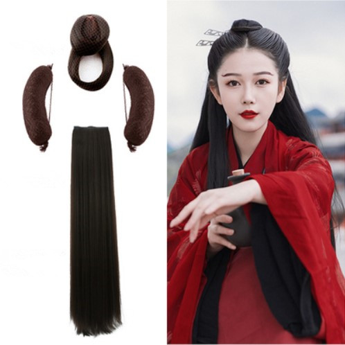 black and brown han dynasty hair products for women TV Play classic fairy cosplay antique styling headwear for photography in Costume Accessories from Novelty Special Use