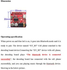 Image 4 - 10PCS Bluetooth Audio Empfänger bord Bluetooth 4,1 mp3 verlustfreie decoder board Wireless Stereo Musik Modul