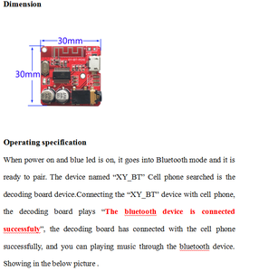 Image 4 - 10PCS Bluetooth Audio Receiver board Bluetooth 4.1 mp3 lossless decoder board Wireless Stereo Music Module