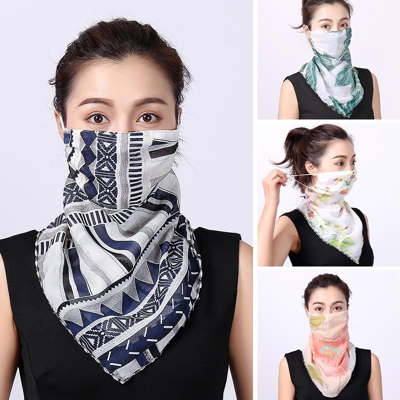 2020 New Silk Scarf Bandana Neckerchief Sun Protection Hand Band Magic Scarves Neck Wraps Shawl Luxury Brand Summer