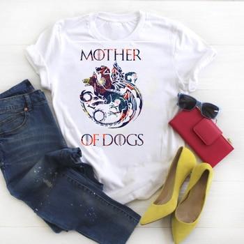 2019 Women Shirt Clothes Mother of Dog Letter Fashion Ladies Graphic Printed Tee Kawaii Womens Top Tshirt Female T-shirt