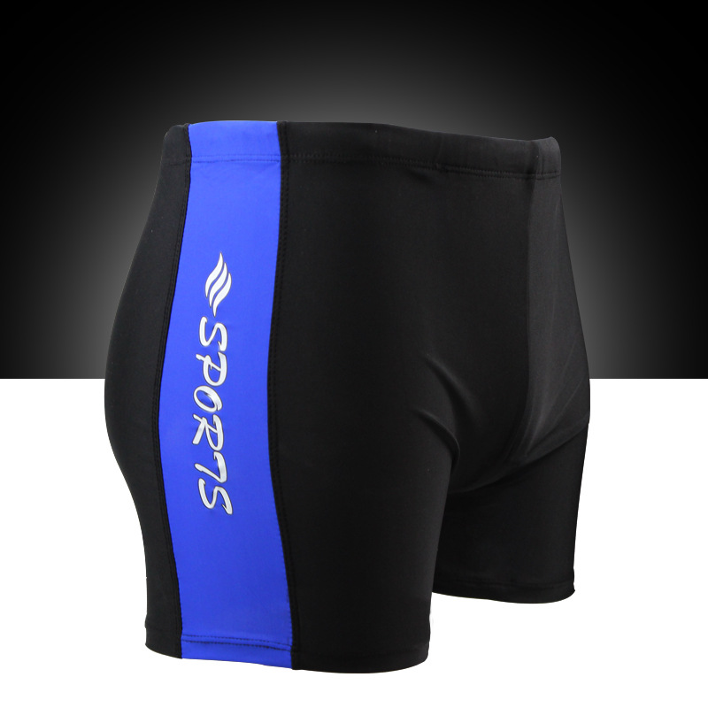 Loose-Fit Hot Springs Swimming Trunks Mixed Colors Stripes Men Boxer Beach Shorts Seaside Fashion Simple Breathable Swimming Tru