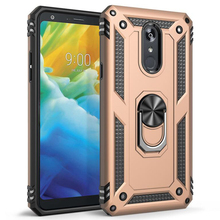 Sergeant anti-fall armor mobile phone shell magnetic FOR: LG Stylo5 aristo3 K40 K50 Q60 ring bracket protective cover case