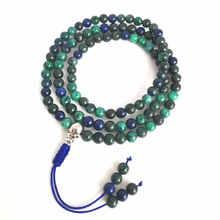 Natural Stone Beaded Necklace 108PCS Pheonix Lapis Lazuli Prayer Meditation Mala Free Ship BRO518