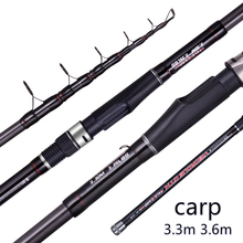 FX 3.3m 3.6m Tele Carp Fishing Rod Telescopic Portable Profession Ultra Light Expert Travel 3.25lbs The Red Wire