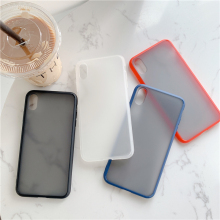 цена на Scrub Trend Apple four-color mobile phone case for iphone X XR XS MAX 6 6S 7 8 PLUS anti-fall creative personality cover