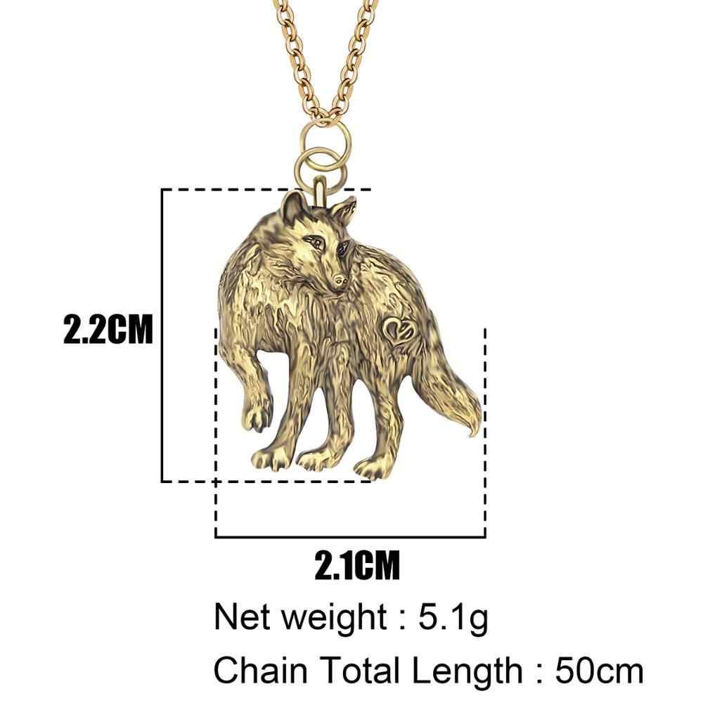 ARWA سبائك مطلي العتيقة الفضة مجوهرات بأشكال حيوانات البرية الذئب قلادة قلادة المختنق العقلية الشابات فتاة سحر الهدايا المبيعات الساخنة