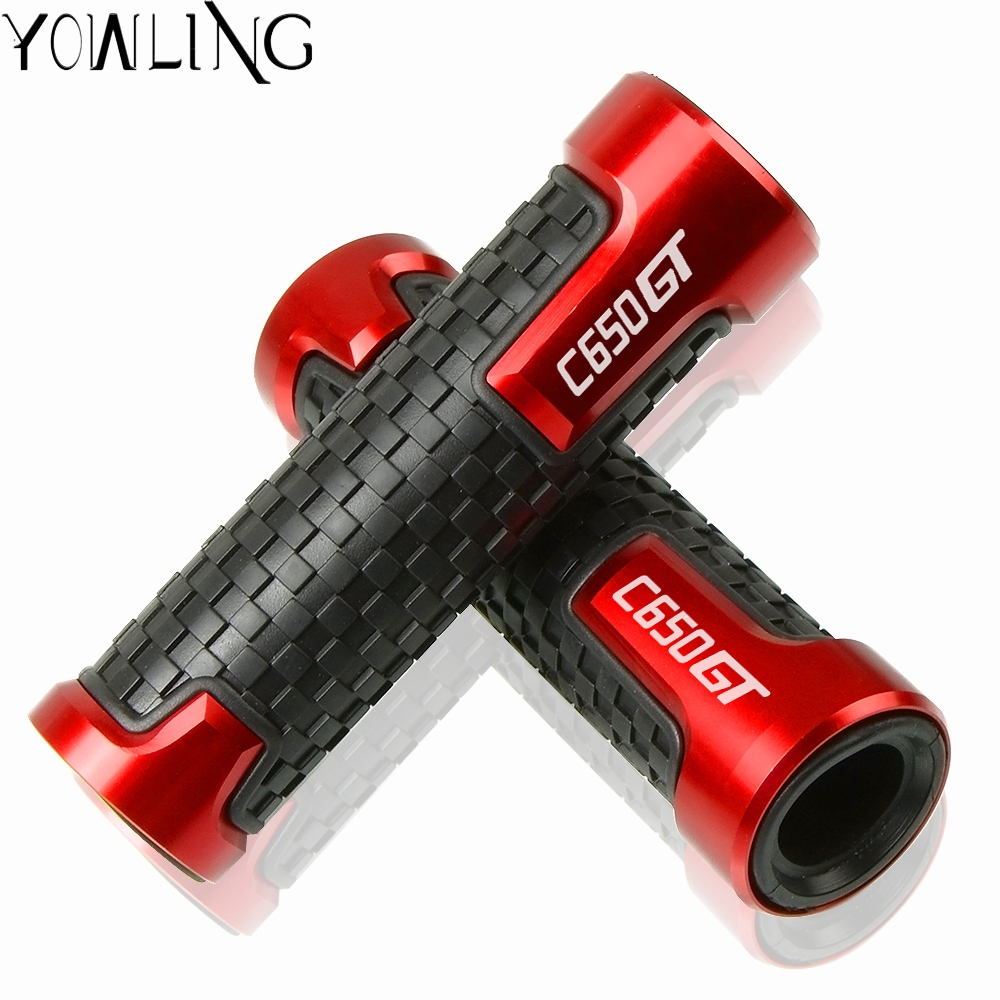 Motorcycle Accessories 22mm 7/8'' handlebar grips For <font><b>BMW</b></font> C650GT <font><b>C650</b></font> <font><b>GT</b></font> 2011 2012 2013 2014 2015 2016 2017 Moto handle bar grip image