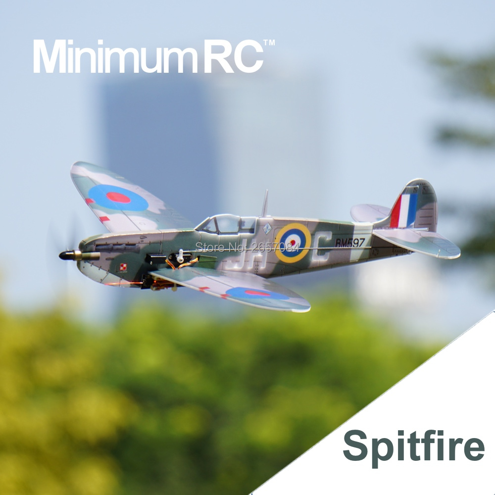 MinimumRC Spitfire 360mm Wingspan 4 Channel Trainer Fixed-wing RC Airplane Outdoor Toys For Children Kids Gifts image