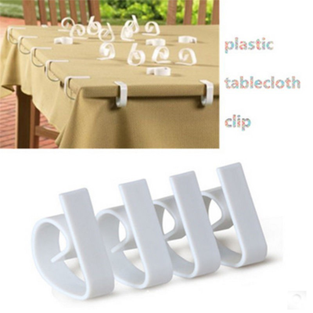 4 Pcs Plastic Tablecloth Table Cover Clips Holder Cloth Clamps Picnic Party ONE