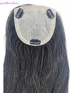 Lace-Closure 100%Human-Hair-Products Silk Black Base Straight 5-5-1pcs Hand-Tied Hair-Smooth