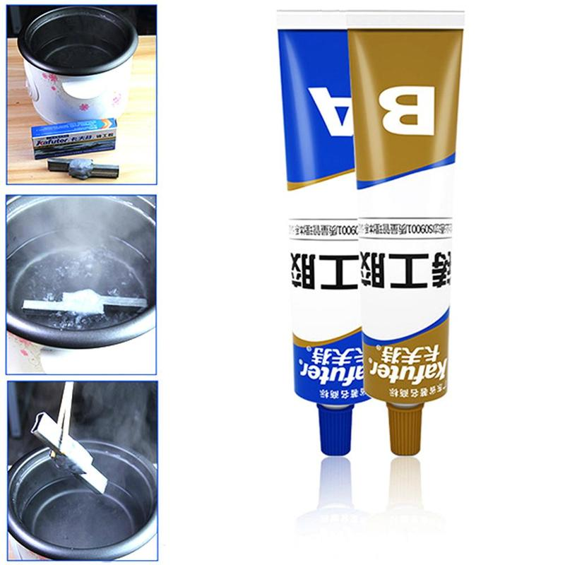 New Caster Glue AB Group Double Tube Sealant High Temperature Resistant Glue Industrial Casting Metal Repair Agent