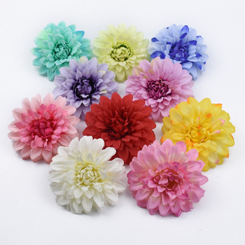 2/5/10 Pieces Silk Gerbera scrapbook wedding decorative flowers wall home decor accessories household products plastic flowers image