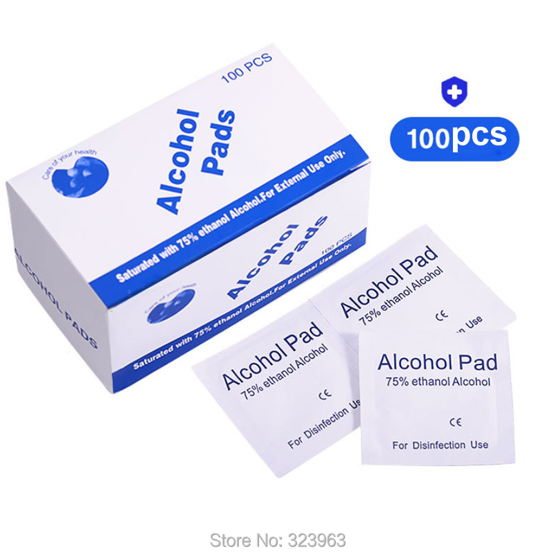 100pcs/bag Alcohol Pad With 75% Ethanol Alcohol For Epidemic Prevention For Disinfection Use Alcohol Pads For Phone Computer