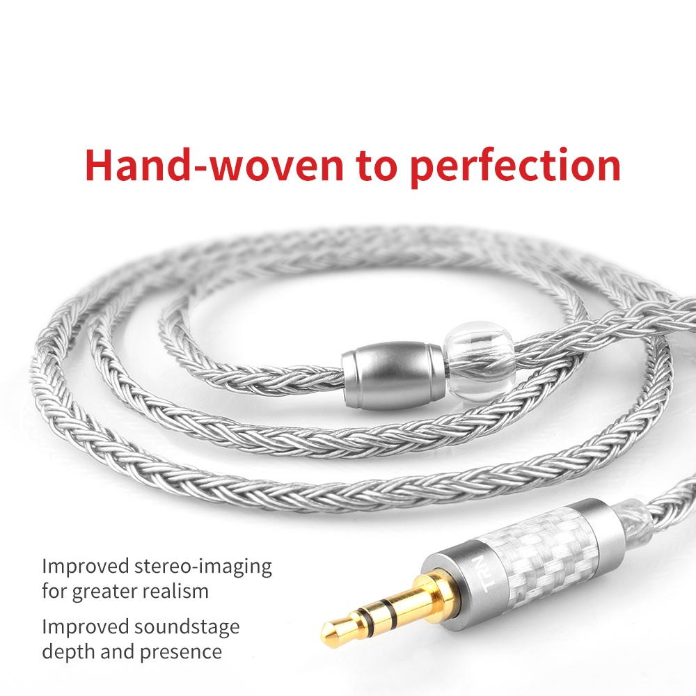 TRN 16 Core Silver Plated Upgrade <font><b>Cable</b></font> 3.5/2.5 Plug MMCX/<font><b>2Pin</b></font> Connector For MMCX 075 <font><b>0.78</b></font> In-Ear Headphone TRN VX V90 V80 T2 image