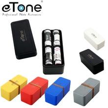 ETone 6 ألوان متعددة تنسيق فيلم بلاستيكي صلب حاوية تخزين فيلم صندوق حافظة 135 120/220 أفلام عالية quadarkroom فيلم صندوق ملون