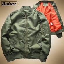 Outono militar dos homens da força aérea bombardeiro jaqueta 2020 masculino esportes de beisebol outwear casaco fino blusão casual zíper topos roupas